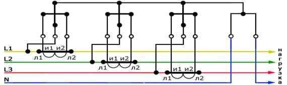 Схемы подключения счетчиков