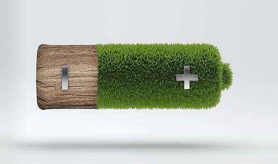 Аккумулятор из древесных отходов