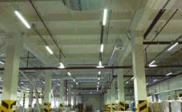 Установка светильников на потолок